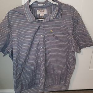 Penguin mens button down shirt colorful stripes